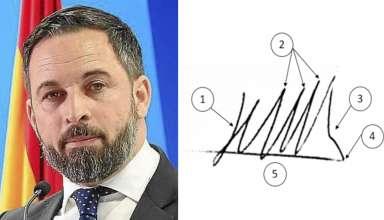 Análisis Grafolófico Santiago Abascal