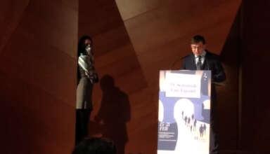 Álvaro González, Concejal Presidente del Distrito de Carabanchel, durante la presentación
